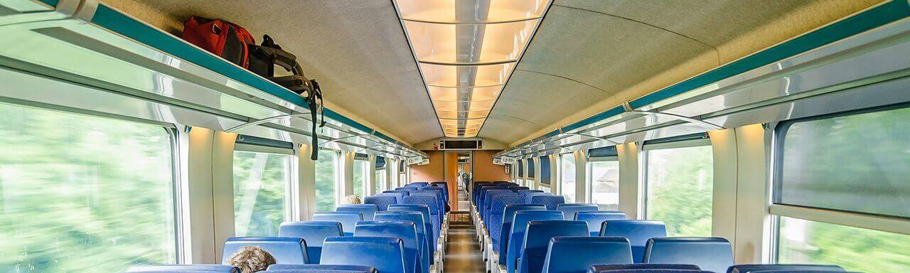 Rail interior with aluminium honeycomb