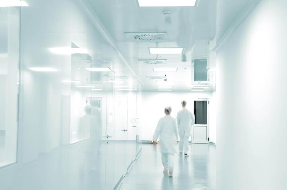Clean-rooms using Corex aluminium honeycomb