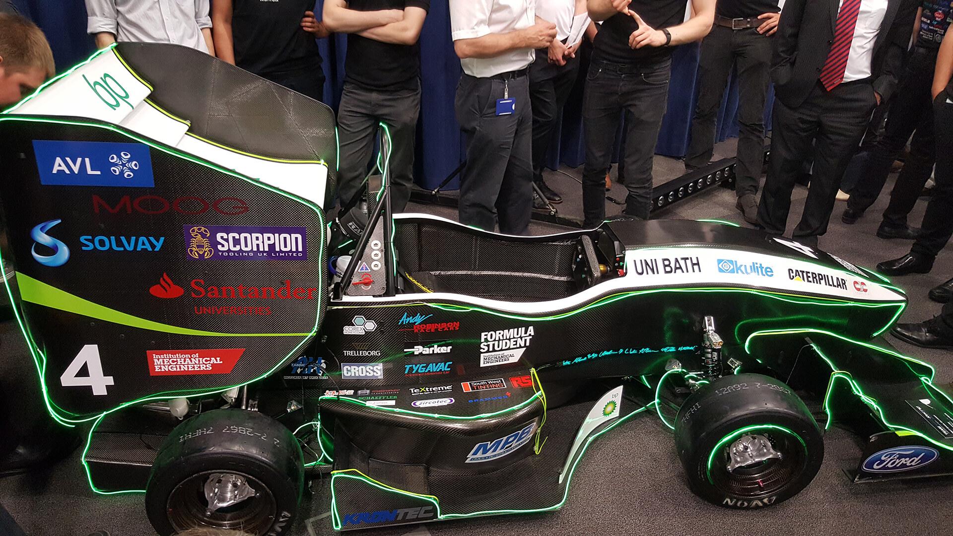team bath racing car