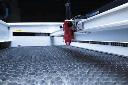 Aluminium honeycomb in laser beds