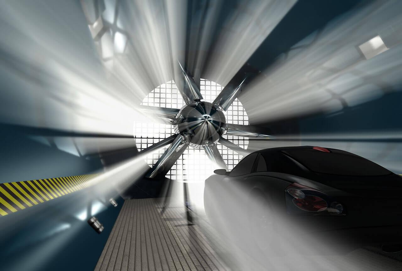 Wind tunnel made with Corex aluminium honeycomb