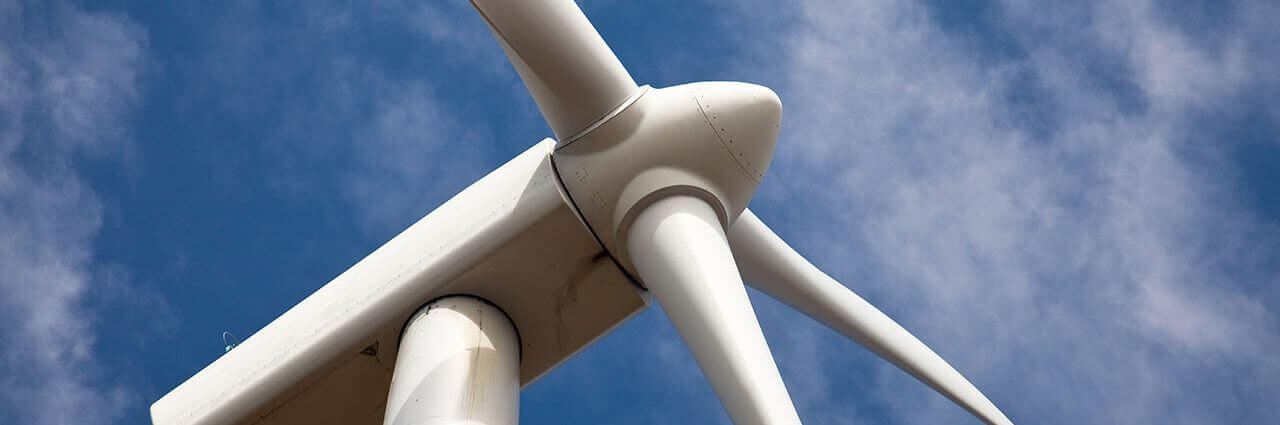Wind turbine with aluminium honeycomb