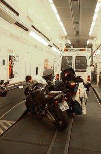 Euro tunnel Vehicle Shuttle interior