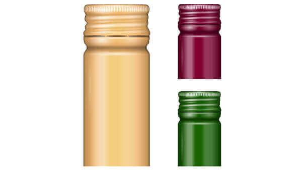 Metal wine bottle tops